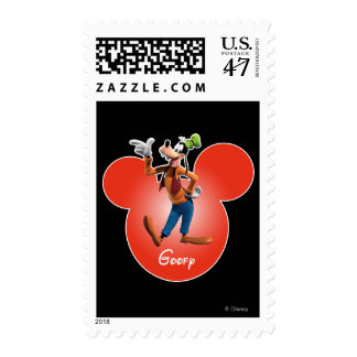 Goofy | Inside Red Mickey Head Outline Stamp