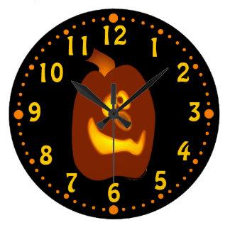 Goofy Jack O Lantern Cute Halloween Custom Clock