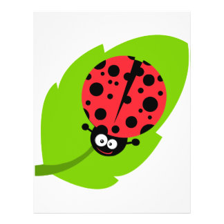 goofy ladybug on a leaf flyers