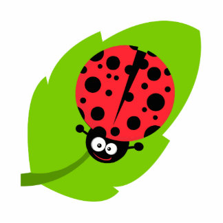 goofy ladybug on a leaf photo cut outs
