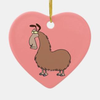 goofy llama cartoon ornament