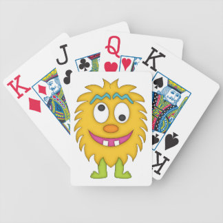 Goofy Monster-Cartoon Bicycle Playing Cards