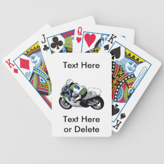 Goofy Mustache and Glasses Disguise Bicycle Playing Cards