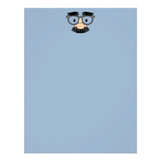 Goofy Mustache and Glasses Disguise Letterhead