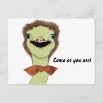 Goofy Ostrich Invitation