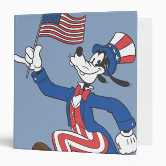 Goofy   Patriotic Binder