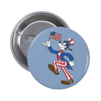 Goofy   Patriotic Pinback Button