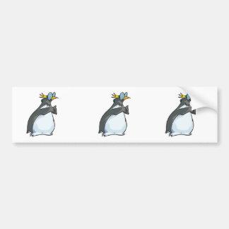 goofy penguin in glasses car bumper sticker