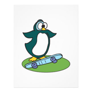 goofy penguin on skateboard flyers