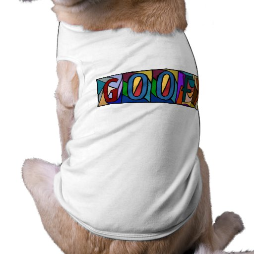GOOFY ~ PERSONALIZED BIG LETTER PET-WARE FOR DOGS! PET TSHIRT