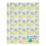 goofy pink spring easter bunny customized letterhead
