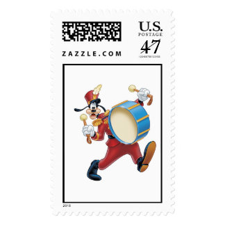 Goofy Playing a Drum Postage