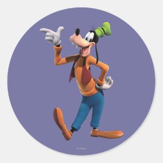 Goofy | Pointing Classic Round Sticker