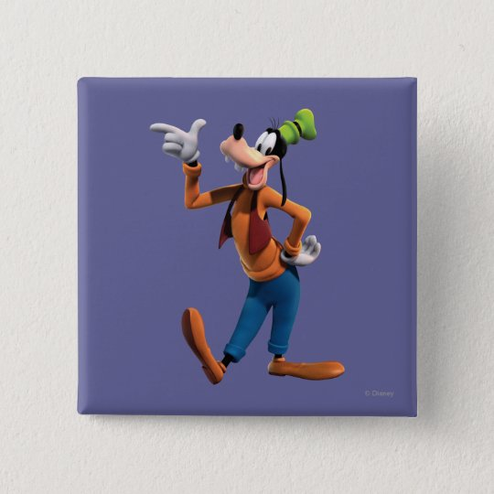 Goofy | Pointing Pinback Button