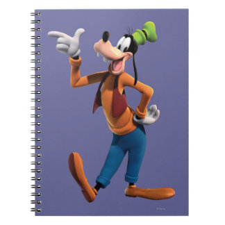 Goofy Pointing Spiral Note Books