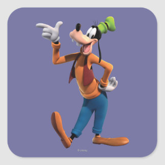 Goofy | Pointing Square Sticker