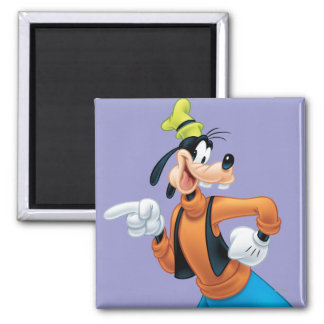 Goofy Pose 2 2 Inch Square Magnet