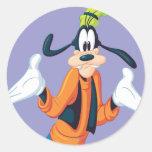 Goofy Pose 5 Round Sticker