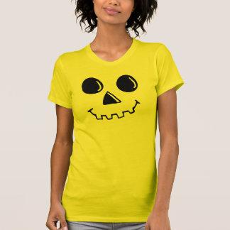 Goofy Pumpkin face Ladies Shirt