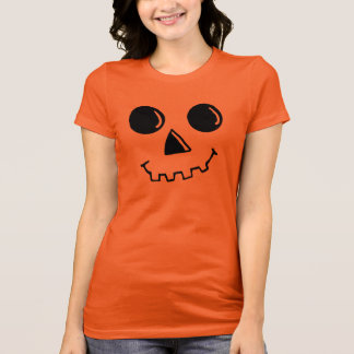 Goofy Pumpkin face Ladies Shirt