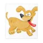 Goofy Puppy Cartoon Memo Notepad