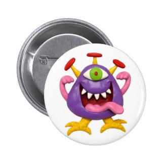 Goofy Purple Monster Buttons