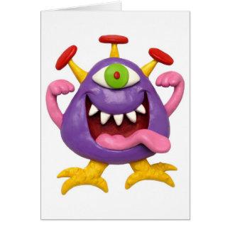 Goofy Purple Monster Greeting Cards