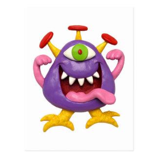 Goofy Purple Monster Postcard
