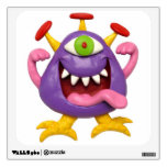 Goofy Purple Monster Wall Decal