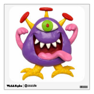 Goofy Purple Monster Wall Decal