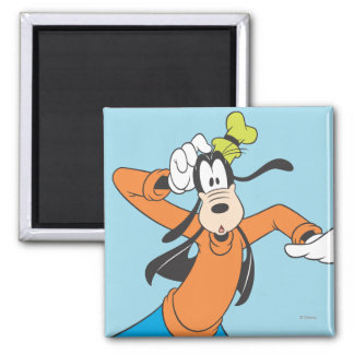 Goofy Scratching Head 2 Inch Square Magnet