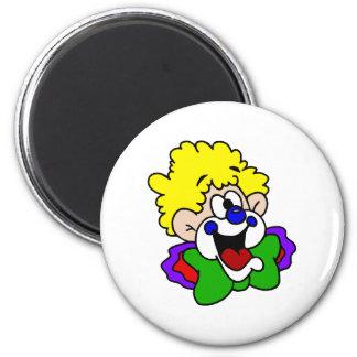 Goofy Smile Clown 2 Inch Round Magnet