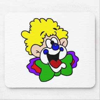 Goofy Smile Clown Mouse Pad