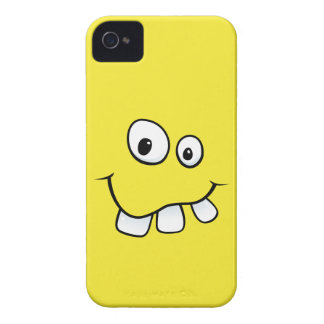 Goofy smiley face funny yellow iPhone 4 case