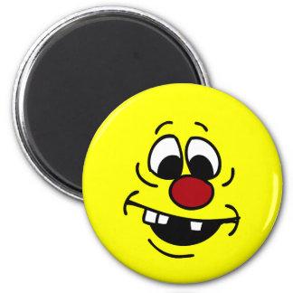 Goofy Smiley Face Grumpey Magnet