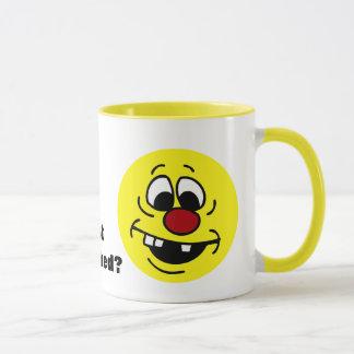 Goofy Smiley Face Grumpey Mug