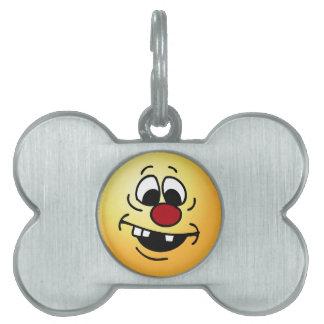 Goofy Smiley Face Grumpey Pet Tag