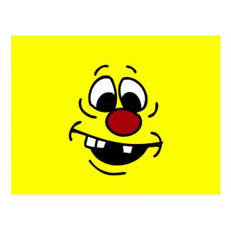 Goofy Smiley Face Grumpey Postcard