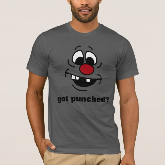 Goofy Smiley Face Grumpey T-Shirt