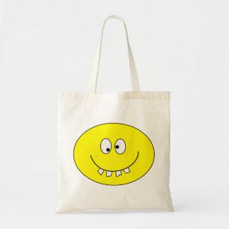 Goofy Smiley with Bad Teeth on Bag