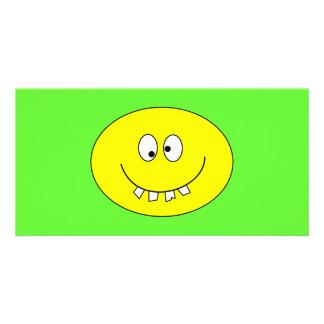Goofy Smiley with Bad Teeth on Photo Card