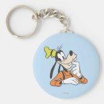 Goofy   Thinking Basic Round Button Keychain