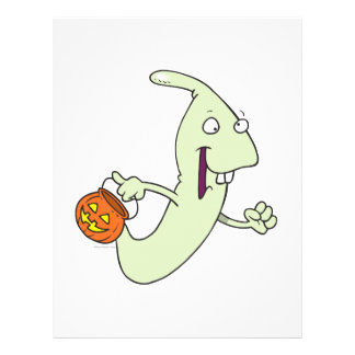 goofy trick or treat ghost cartoon full color flyer
