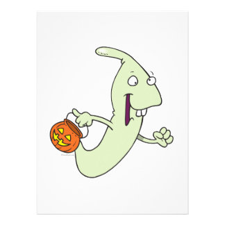 goofy trick or treat ghost cartoon personalized announcements