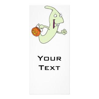 goofy trick or treat ghost cartoon custom rack card