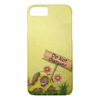 Goofy Turtle Green Do Not Disturb Tortoise Cute iPhone 8/7 Case