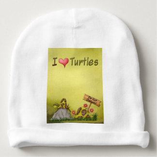 Goofy Turtles Green Do Not Disturb Tortoise Cute Baby Beanie
