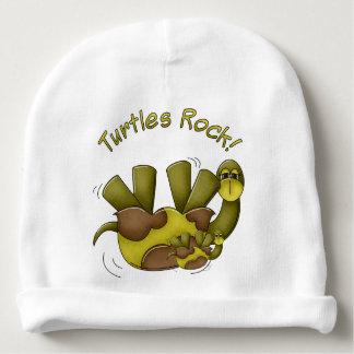 Goofy Turtles Rock Green Tortoise Yellow Baby Beanie