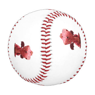 Goofy winged Red Dragon with crazy Smile Baseball