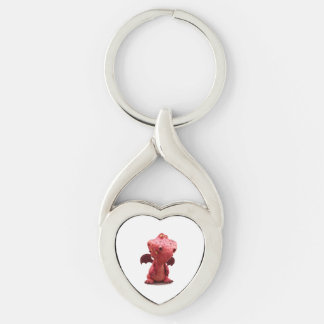 Goofy winged Red Dragon with crazy Smile Keychain
